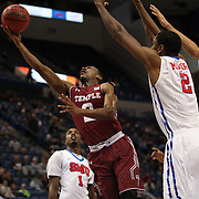 Will Cummings, (left), Temple, shoots past Yanick Moreira SMU, during the Temple Vs SMU Semi Final game at the American Athletic Conference Men's College Basketball Championships 2015 at the XL Center, Hartford, Connecticut, USA. 14th March 2015. Photo Tim Clayton