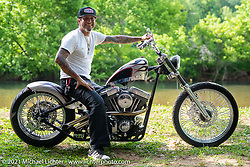 Xavier Muriel with his High Seas Rally custom in the BC Moto Show at the Tennessee Motorcycles and Music Revival at Loretta Lynn's Ranch. Hurricane Mills, TN, USA. Friday, May 21, 2021. Photography ©2021 Michael Lichter.