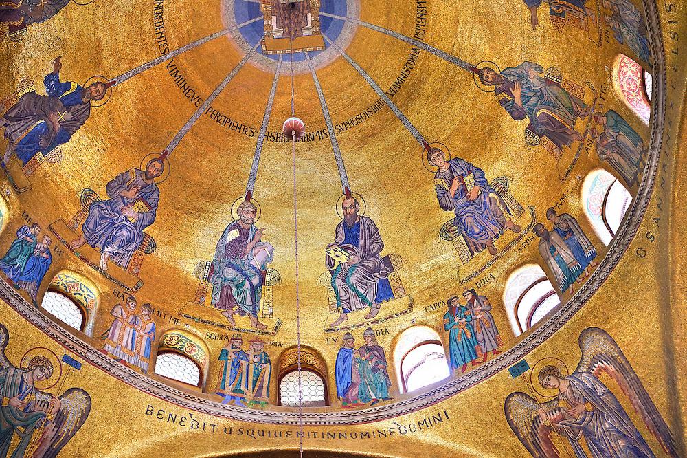 Mosaics inside St Mark's Basilica Venice