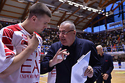 Tarczewski Kaleb, Repesa Jasmin<br /> Enel Brindisi - EA7 Emporio Armani Milano<br /> BASKET Serie A 2016-2017<br /> Brindisi 15/04/2017<br /> FOTO CIAMILLO / M.Longo