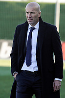 Real Madrid Castilla´s coach Zinedine Zidane during 2014-15 Spanish Second Division match between Real Madrid Castilla and Athletic Club B at Alfredo Di Stefano stadium in Madrid, Spain. February 08, 2015. (ALTERPHOTOS/Luis Fernandez)