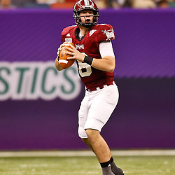 December 18, 2010; New Orleans, LA, USA; Troy Trojans quarterback Corey Robinson (6) looks to pass against the Ohio Bobcats during the first half of the 2010 New Orleans Bowl at the Louisiana Superdome.  Mandatory Credit: Derick E. Hingle