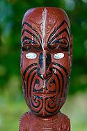 Oceania, New Zealand, Aotearoa, North Island, Rotorua, Government Park, Maori carving