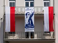 Plakaty w stylu lat 50. zachęcają do głosowania w wyborach