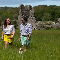 Alexander and Louise - Ogmore castle