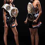 Young Muay Thai students at the Way of No Way martial arts academy.
