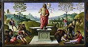 Resurrection of Christ. 1495. Perugino (Pietro di Cristoforo Vannucci  - c1450-1523). Italian artist.  Musee des Beaux Arts, Rouen