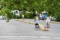 coronavirus testing station stratford upon avon photo by Mark Anto Smith