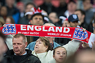 England fan first game at Wembley during the FIFA World Cup Qualifier match between England and Slovenia at Wembley Stadium, London, England on 5 October 2017. Photo by Sebastian Frej.