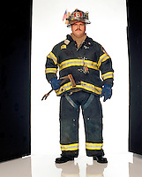 """Lieutenant, Ladder 56, FDNY<br /> <br /> Firefighter, Ladder 6, FDNY<br /> While trapped with Harris and his ladder company in Stairwell B, Butler used a cell phone to call emergency numbers but couldn't get through. As a last effort, he called his home in Orange County, N.Y. his wife, Diane, answered.<br /> <br /> """"I just said, 'Hi, what are you doing?' I was trying to be nonchalant. She said, 'where are you?' I said, 'We're at the World Trade Center.' She asked, 'Is everything okay?' Then I said, 'Well, we have a little problem. We're trapped in the Trade Center, but we're okay,' Then she started to cry a little bit, because she knew there was no World Trade Center. At that point I said, 'Listen, you can't cry. I have to give you some information. You have to call the firehouse or call someone and tell them where we're at."""""""