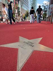 Star of Romy Schneider at new Boulevard der Stars a special boulevard tribute to movie stars  at Potsdamer Platz in Berlin opened 10 September 2010