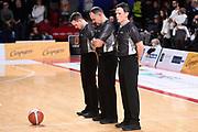 Arbitri<br /> Carpegna Prosciutto Basket Pesaro - Vanoli Cremona<br /> Lega Basket Serie A 2019/2020<br /> Pesaro, 01/12/2019<br /> Foto A.Giberti / Ciamillo - Castoria