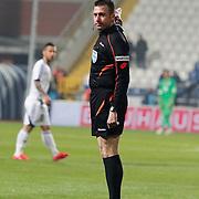 Referee's Huseyin Gocek during their Turkish Superleague soccer match Kasimpasa SK between Galatasaray at the Recep Tayyip Erdogan stadium in Istanbul Turkey on Saturday 21 March 2015. Photo by Aykut AKICI/TURKPIX
