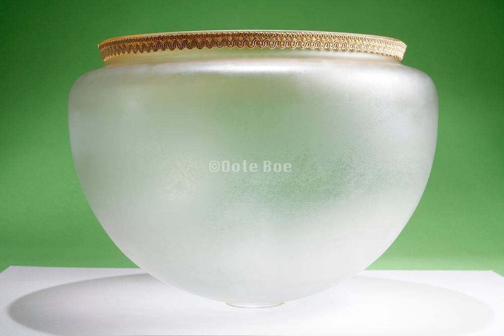 frosted glass lampshade turned upside down