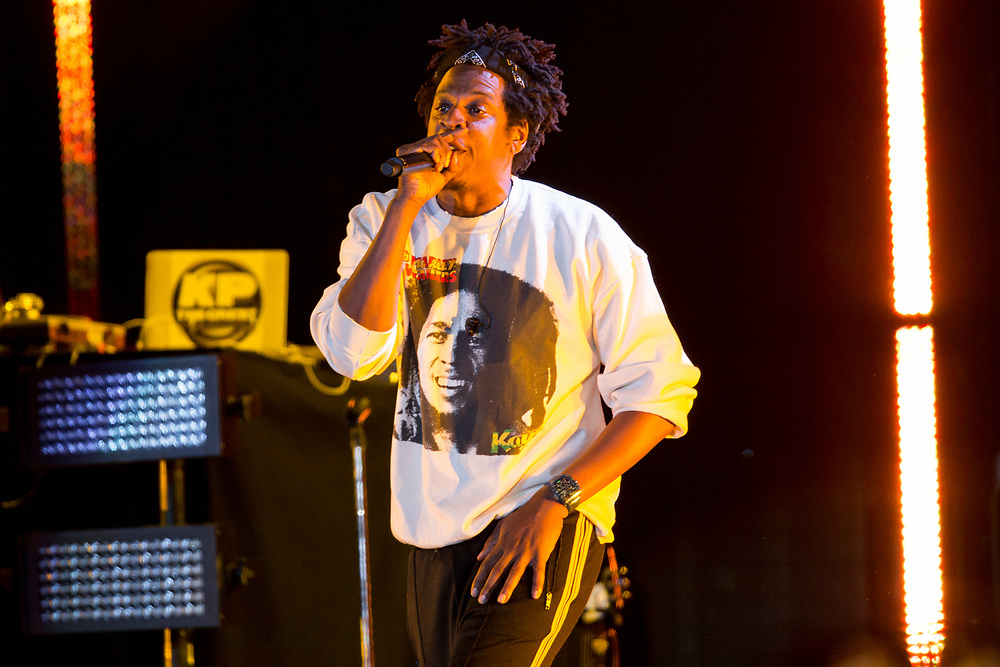 Jay Z performs with Pharrell at the Something In The Water Festival in Virginia Beach, VA on April 27, 2019. Jay Z performs at the Something In The Water Festival in Virginia Beach, VA on April 27, 2019.