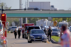 Police and fire rescue vehicles converge on Stoneman Douglas High School in Parkland, FL, USA after reports of an active shooter on Wednesday, February 14, 2018. Photo by John McCall/Sun Sentinel/TNS/ABACAPRESS.COM