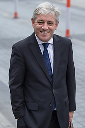 © Licensed to London News Pictures . 20/09/2014 . Manchester , UK . The Speaker of the House of Commons JOHN BERCOW . Departures at the funeral of Heywood and Middleton MP Jim Dobbin at Salford Cathedral today (Saturday 20th September 2014) . Photo credit : Joel Goodman/LNP