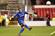 Burton Albion goalkeeper Stephen Bywater (1) during the EFL Sky Bet Championship match between Nottingham Forest and Burton Albion at the City Ground, Nottingham, England on 21 October 2017. Photo by Jon Hobley.
