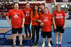 © Licensed to London News Pictures. 30/10/2016. Special Olympics Event Global ambassador NICOLE SCHERZINGER attends London athletics event to promote the organisation' aims and activities including training for young athletes with intellectual (learning) disabilities. London, UK. Photo credit: Ray Tang/LNP