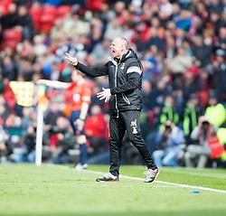 Inverness Caledonian Thistle's manager John Hughes. Falkirk 1 v 2 Inverness CT, Scottish Cup final at Hampden.