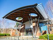 Modern police station building designed by Aaron Evans Architects, Trowbridge, Wiltshire, England, UK