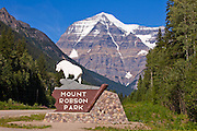 The entrance to Mt. Robson Provincial Park from the west side.  British Columbia.  Canada