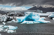 Jökulsárlón Glacial Lagoon.  Iceland.  June, 2015.