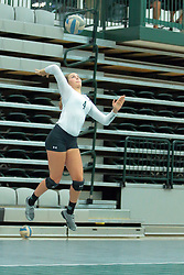 26 August 2017:  Jessica McCall during the green-white scrimmage of the Illinois Wesleyan Titans in Shirk Center, Bloomington IL