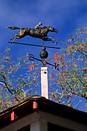Weathervane atop Seabiscuit Barn, Ridgewood Ranch, near Willits, Mendocino County, California