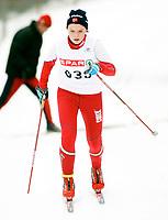Langrenn NM junior i Stokke , 21. Februar 2008 , 10km klassisk for kvinner 18 år , Liza Goodwin fra Nordreisa IL , Foto: Thomas Andersen , Digitalsport