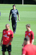 Wales manager Chris Coleman. Wales football players training at the Vale, in Cardiff on Wed 5th Sept 2012, ahead of their forthcoming World cup qualifier against Belgium on Friday 8th Sept.  pic by  Andrew Orchard, Andrew Orchard sports photography,