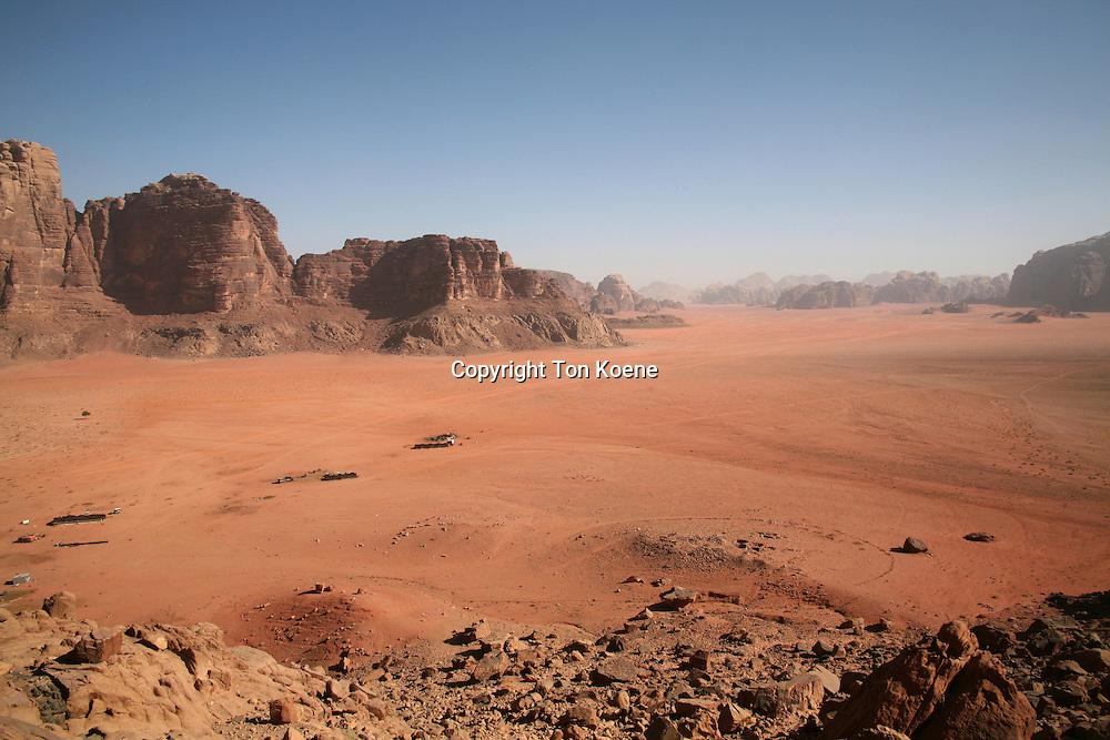 An oasis in the desert near Wadi Rum, Jordan
