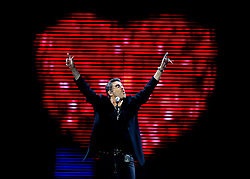 GEORGE MICHAEL (born Georgios Kyriacos Panayiotou, 25 June 1963 - 25 December 2016) was an English singer, songwriter, and record producer who rose to fame as a member of the music duo Wham! in the 1980s, with best-selling post-disco dance-pop songs such as 'Last Christmas' and 'Wake Me Up Before You Go-Go'. His 1987 debut solo album 'Faith' sold more than 20 million copies worldwide. Michael garnered seven number one singles in the UK and eight number one hits in the U.S. PICTURED: Aug 3, 2008 - Sunrise, Florida, U.S. - George Michael in concert at the BankAtlantic Center. (Credit Image: Gary Coronado/Palm Beach Post via ZUMA Press)