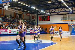 Danece team of KK Helios Suns during basketball match between KK Helios Suns and KK Krka in semi-final of Nova KBM Champions League 2015/16, on May 23, 2016 in Hala Kominalnega Centra, Domzale, Slovenia. Photo by Urban Urbanc / Sportida