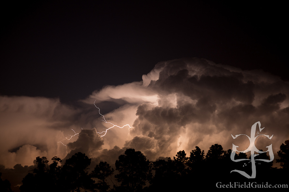 Lightning over Durham