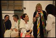 CHARLOTTE PHILLIPS; LOUISA BUCK, Matt's Gallery 35th birthday fundraising supper.  42-44 Copperfield Road, London E3 4RR. 12 June 2014.