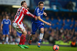 26.01.2014, Stamford Bridge, London, ENG, FA Cup, FC Chelsea vs Stoke City, 4. Runde, im Bild Chelsea's Nemanja Matic, action against Stoke City // during the English FA Cup 4th round match between Chelsea FC and Stoke City FC at the Stamford Bridge in London, Great Britain on 2014/01/26. EXPA Pictures © 2014, PhotoCredit: EXPA/ Propagandaphoto/ David Rawcliffe<br /> <br /> *****ATTENTION - OUT of ENG, GBR*****