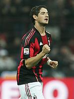 L'esultanzadi PATO dopo il primo gol<br /> 16/10/2010, MILAN CHIEVO 3-1<br /> ALBERTO CAMICI / INSIDEFOTO
