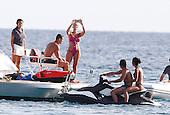 Cristiano Ronaldo lunch on boat in Ibiza