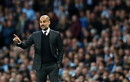Manchester City Manager Pep Guardiola during the English Premier League match at The Etihad Stadium, Manchester. Picture date: April 27th, 2016. Photo credit should read: Lynne Cameron/Sportimage
