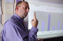 Teacher using sign language,