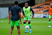 Forest Green Rovers Udoka Godwin-Malife(22) warming up  during the EFL Sky Bet League 2 match between Port Vale and Forest Green Rovers at Vale Park, Burslem, England on 20 August 2019.