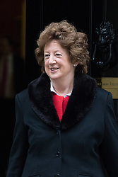 Downing Street, London, March 8th 2016. Minister of State for Foreign and Commonwealth Affairs Baroness Joyce Anelay leaves 10 Downing Street following the weekly UK cabinet meeting. ©Paul Davey<br /> FOR LICENCING CONTACT: Paul Davey +44 (0) 7966 016 296 paul@pauldaveycreative.co.uk