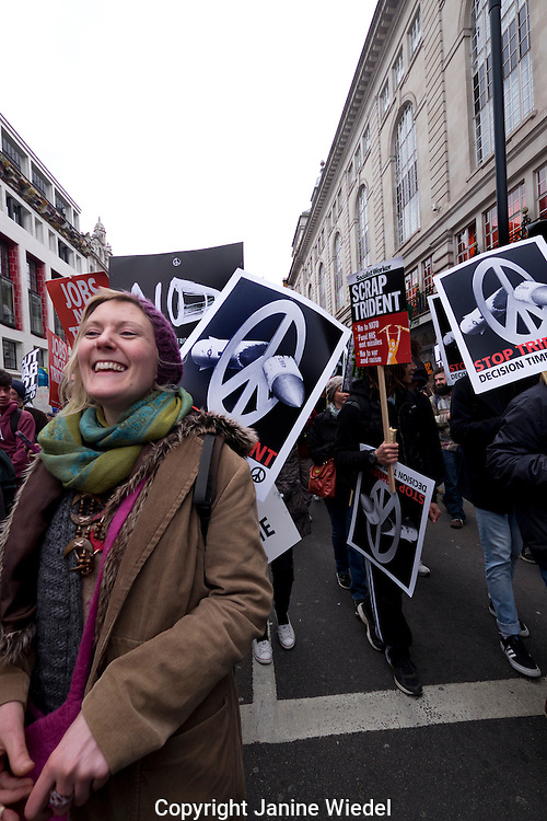 Trident CND protest through Central London was biggest anti-nuclear march a generation Feb 28th 2016