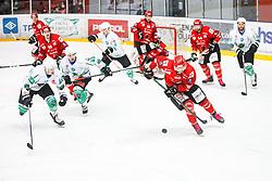 Krmelj Miha during derbi between  HDD SIJ Acroni Jesenice vs HK SZ Olimpija Ljubljana. October 12, 2021 in Ice Arena Podmezakla, Jesenice, Slovenia. Photo by Peter Podobnik / Sportida