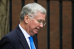 Downing Street, London, November 17th 2015. Defence Secretary Michael Fallon leaves 10 Downing Street following the weekly cabinet meeting.