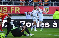 Joie Lyon - Nabil FEKIR / Christphe JALLET / deception Lens - 17.01.2015 - Lens / Lyon - 21eme journee de Ligue 1 <br />Photo : Dave Winter / Icon Sport