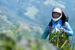 Marko Novak pilot for Slovenian national team during 16th paraglide competition Ratitovec Open 2016, Železniki, Porezen, on 10th of July in Slovenia. Photo by Grega Valancic / Sportida