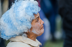 June 21, 2018 - Buenos Aires, Argentina - Fans of Argentina watch the 2018 FIFA World Cup match beween Argentina and Croatia in Buenos Aires, Argentina, on June 21, 2018. (Credit Image: © Manuel Cortina/NurPhoto via ZUMA Press)