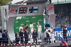 September 2, 2018 - Monza, Italy - Motorsports: FIA Formula One World Championship 2018, Grand Prix of Italy, .#7 Kimi Raikkonen (FIN, Scuderia Ferrari), #44 Lewis Hamilton (GBR, Mercedes AMG Petronas Motorsport), #77 Valtteri Bottas (FIN, Mercedes AMG Petronas Motorsport) (Credit Image: © Hoch Zwei via ZUMA Wire)